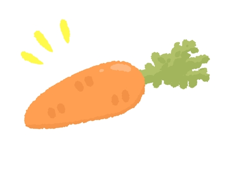 Loose carrot illustration