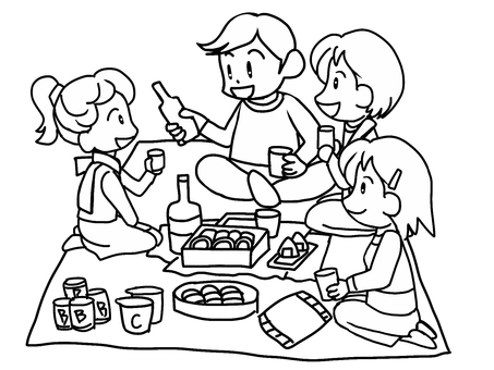 Banquet (line drawing)