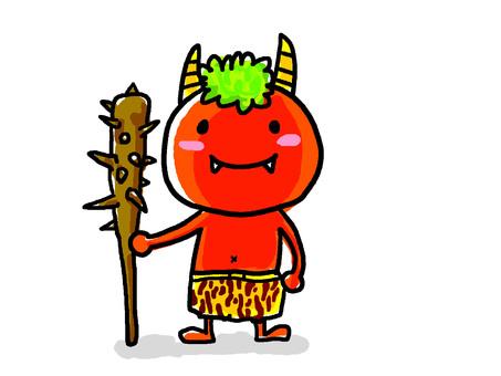 Setsubun's red demon