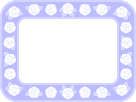 Pastel color rose frame (lavender)