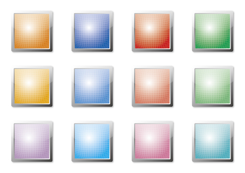 Colorful buttons (squares) 2