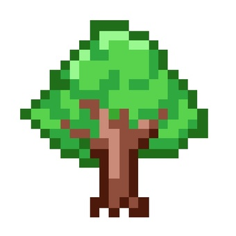 Dot picture of tree
