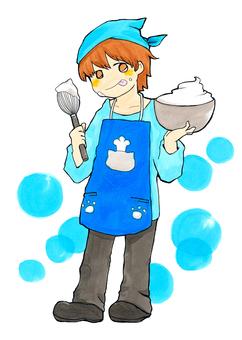 Cooking boy