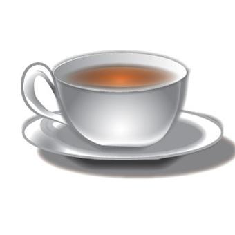홍차가 들어간 컵