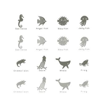 Business icons (marine life)