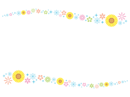 Flowing sunflower line