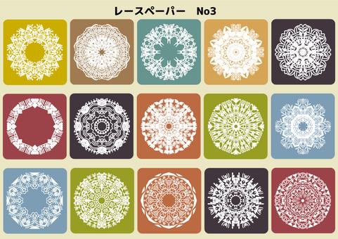Lace paper No, 3 color
