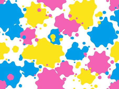 물보라 패턴 1 (색의 삼원색)