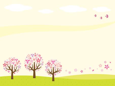 Sakura's scenery illustration