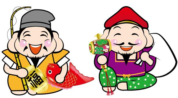 Daikokuten and Ebisu