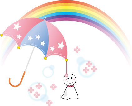 Free illustration hydrangea rainbow umbrella