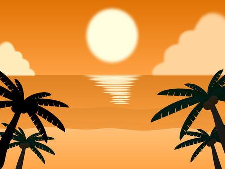 Tropical beach (evening)