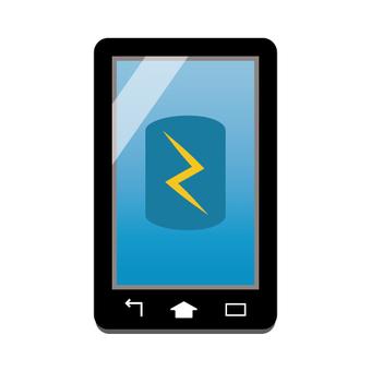Smartphone screen (image of charging)