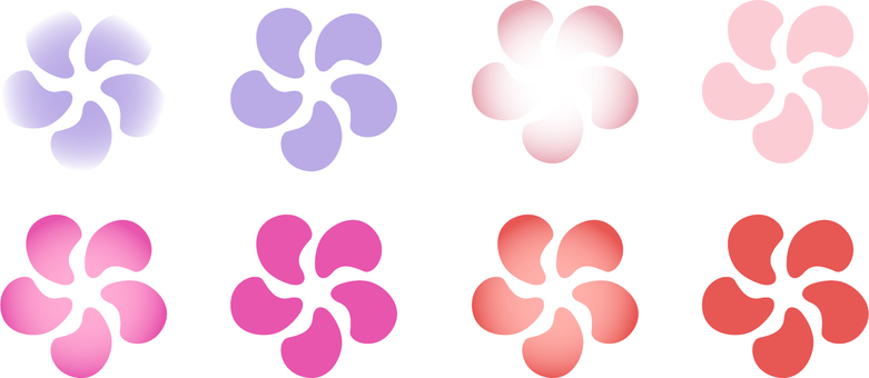 ai Japanese style simple twist plum 8 pieces set
