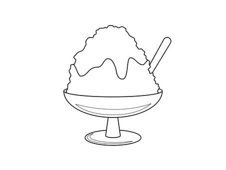 Shaved ice (line drawing)