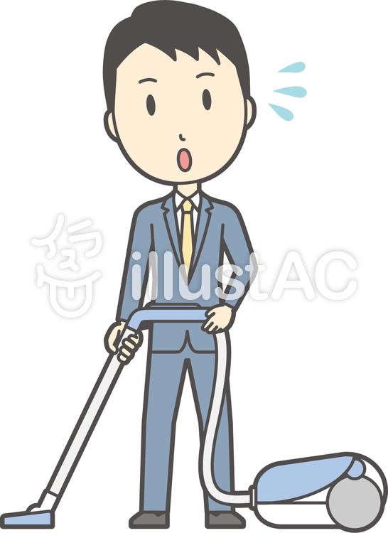 スーツ男性ネイビー-280-全身のイラスト