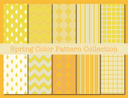 Pattern material 86 (spring color pattern 01 yellow)