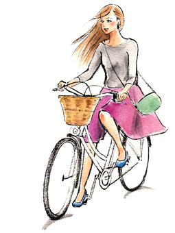 Woman riding a bicycle 2
