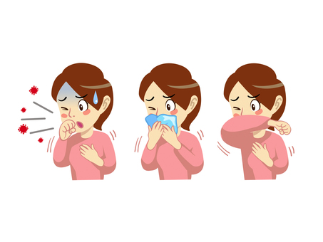 Illustration of cough etiquette