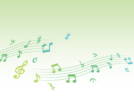 Musical note background material