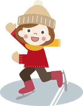 Winter play 08 (Skate C_ Child 01)