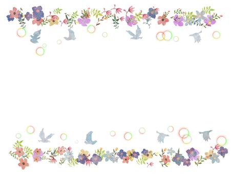 Flower and bird frame 2