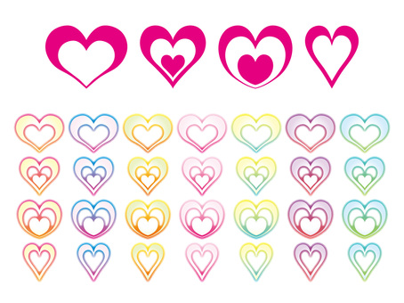 Colorful heart set 2