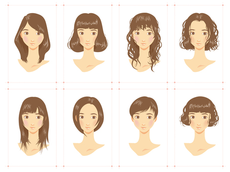 Various female hairstyles
