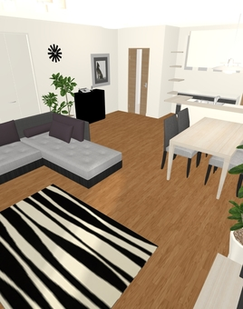 3LDK Floor plan ⑤ (3D stereoscopic ①)