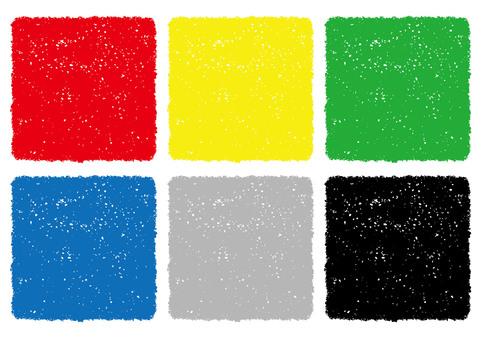 Crayon texture background set