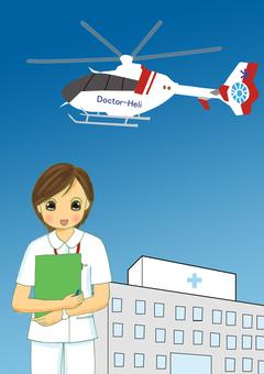 医生直升机护士