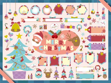 クリスマスフレーム セット_B