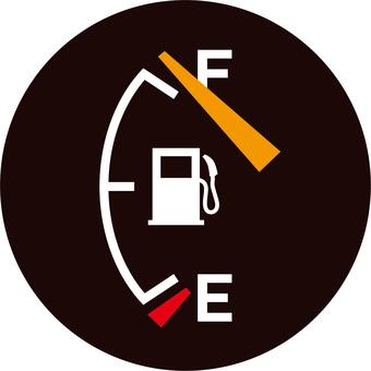Gasoline meter _ full tank _ yen