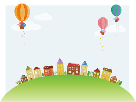 House and balloon