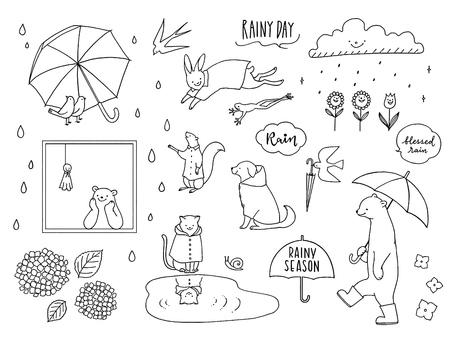 Rainy season and animals