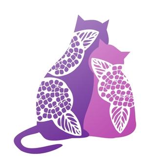 好朋友貓繡球花