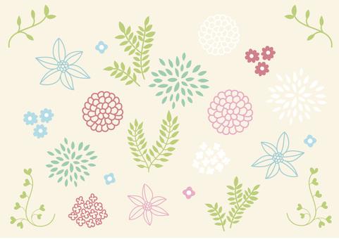 Scandinavian flower motif