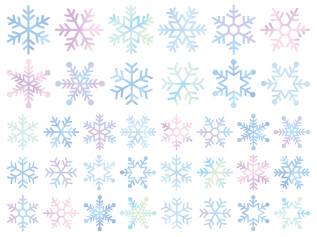Snow crystal colorful set