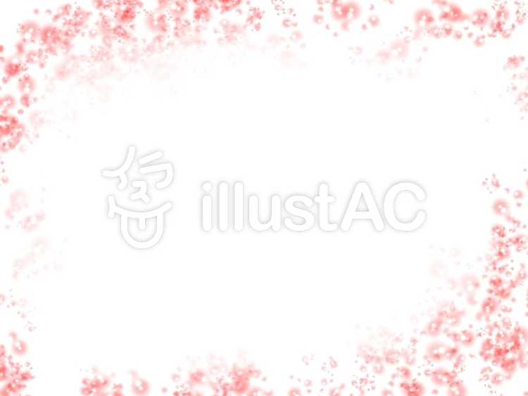 赤の水玉飾り枠のイラスト