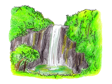 Waterfall illustration 02