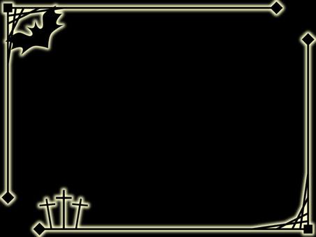 Halloween decorative frame 1 (black) Black background