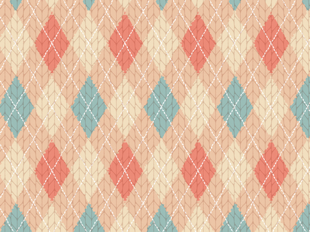 Argyle pattern Knit material