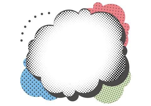 Dot cloud shape 1 a