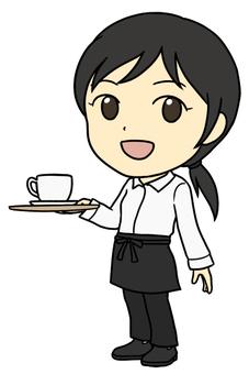在一家咖啡店(女人)