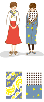 Fashionable woman 2: Pattern stall