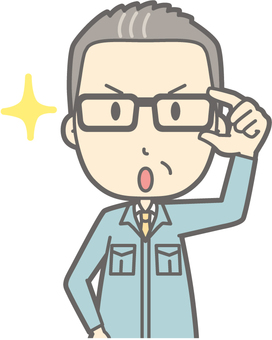 Working clothes for middle-aged man - Glasses Kirari 1 - Bust
