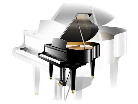 Piano _ black and white