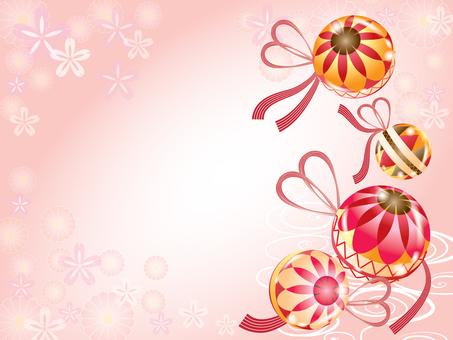 Temari _ cherry card