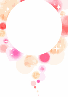 Watercolor painting frame 003