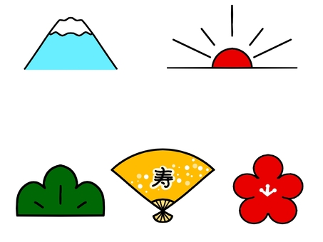 Japanese style icon set (color)